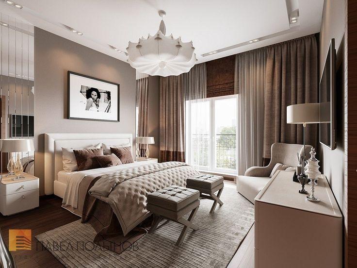 Фото спальня из проекта «Дизайн интерьера трехкомнатной квартиры 127 кв.м., ЖК «Парадный квартал», современный стиль»