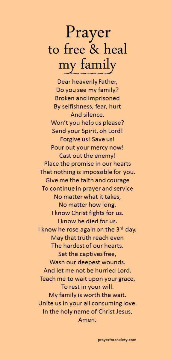 Prayer to free & heal my family Christian Women's