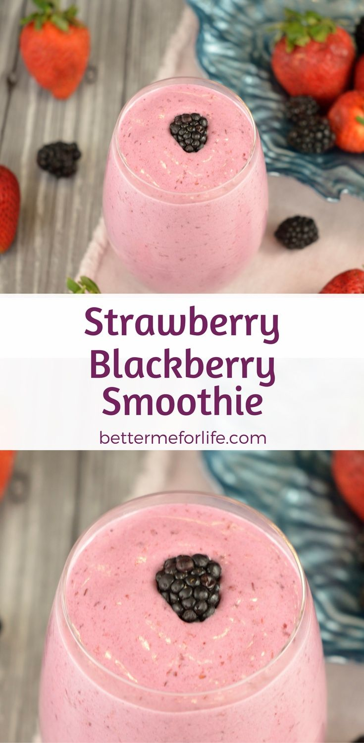 Loaded with vitamins, minerals and fiber, this delicious strawberry blackberry smoothie is great for helping maintain your weight. Find the recipe on BetterMeforLife.com