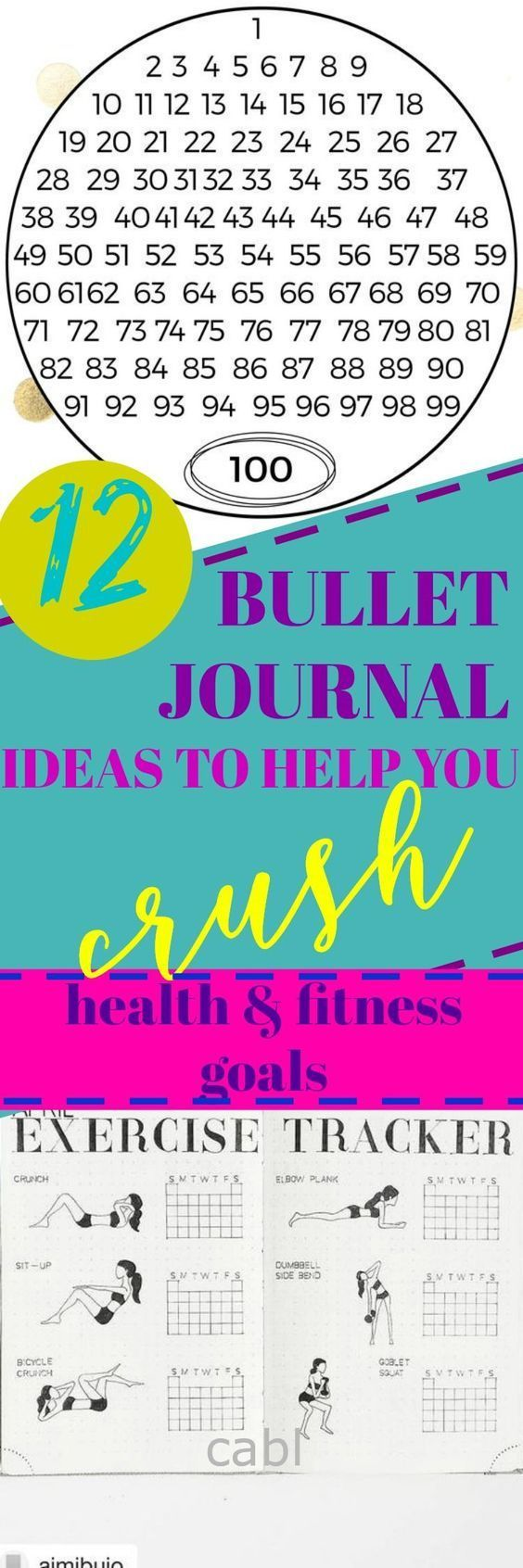 Crush Your Health & Fitness Goals With Bullet Journal Habit Trackers#habittracker #health #fitness #chasingabetterlife