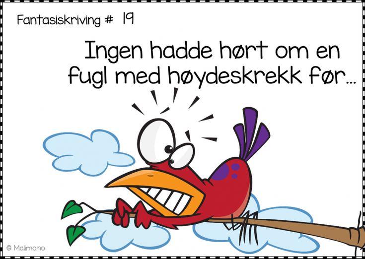 Malimo.no - 190 herlige og gratis skrivestartere på bokmål, nynorsk og engelsk!