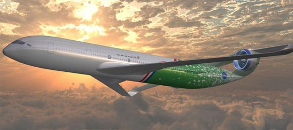what commercial aircraft will look like in 2050 - Electric aircraft. (Credit: NASA)