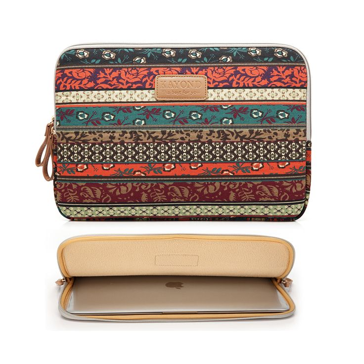 "Bohemian Design 11 12 13 14 15.6 inch Cavas Laptop Bag Notebook PC Sleeve Case Pouch for woman for hp macbook sony 11.6"" 13.3""-in Laptop Bags & Cases from Computer & Office on Aliexpress.com 