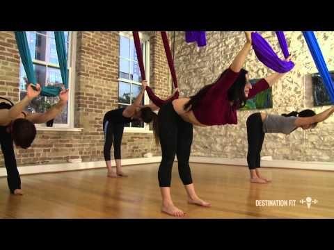 Aerial Hammock Conditioning - FULL Workout - Aerial Asana/Yoga - Lydia Michelson-Maverick - YouTube