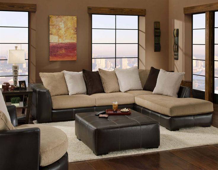 Dark Blue Sectional Living Room