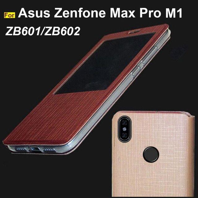 lowest price 4f4d4 81f6d Asus Zenfone Max Pro M1 ZB601KL case soft TPU Luxury PU leather ...