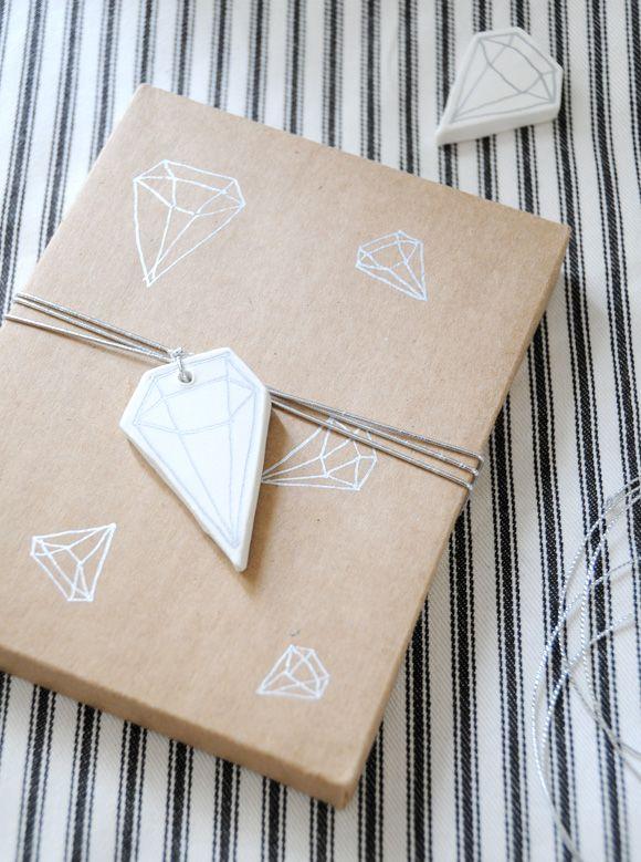 DIY geometric clay tags