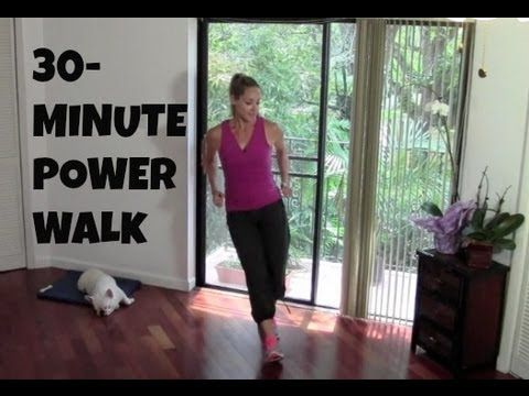 ▶ Indoor Walking Exercise - Full Length 30-Minute Power Walk (fat burning, walking workout) - YouTube