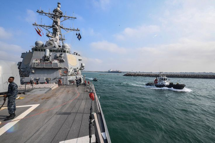 170726-N-FP878-074  NAVAL STATION ROTA, Spain (July 26, 2017) The Arleigh Burke-class guided-missile destroyer USS Donald Cook (DDG 75) departs Naval Station Rota, Spain, for a scheduled patrol July 26, 2017.  Donald Cook, forward-deployed to Rota, is conducting naval operations in the U.S. 6th Fleet area of operations in support of U.S. national security interests in Europe and Africa. (U.S. Navy photo by Mass Communication Specialist 1st Class Theron J. Godbold /Released)