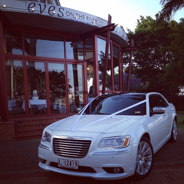 Chrysler 300C New Model in Pearl White with Black Roof at Eve's on the River