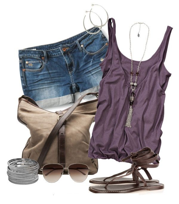 Summer OutfitSummer Fashion, Casual Summer, Cute Summer Outfit, Summer Outfits, Style Summer, Denim Shorts, Style Clothing, Summer Clothing, Style Fashion