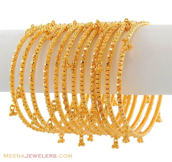Gold Bangles Designs | and above bangles set of bangles 22kt gold churi set