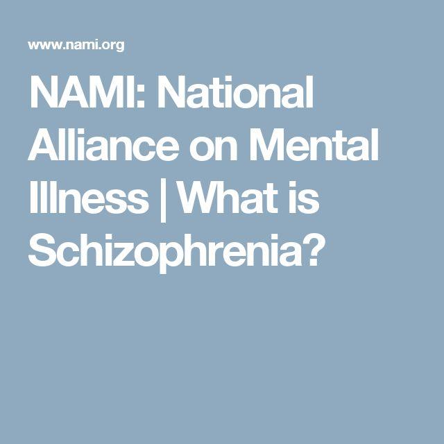 NAMI: National Alliance on Mental Illness | What is Schizophrenia?