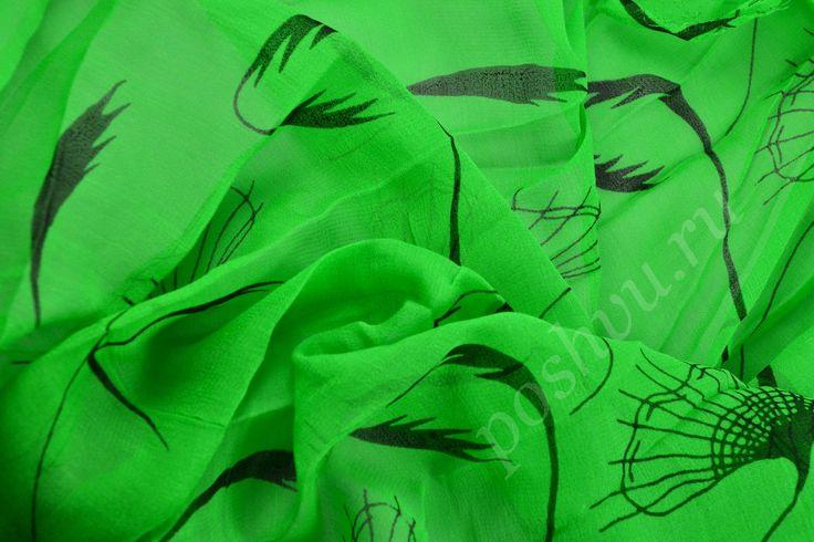 Оригинальная натуральная шёлковая ткань с цветочным принтом купить в интернет магазине, ткань шелк отличного качества