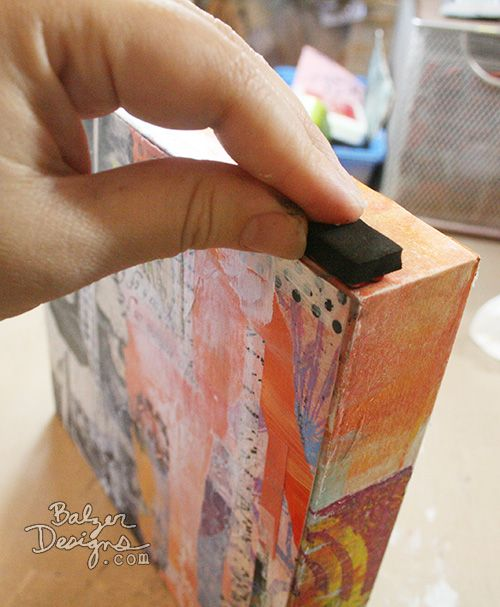 How to Mount a Collage - Balzer Designs (onto a wood canvas)