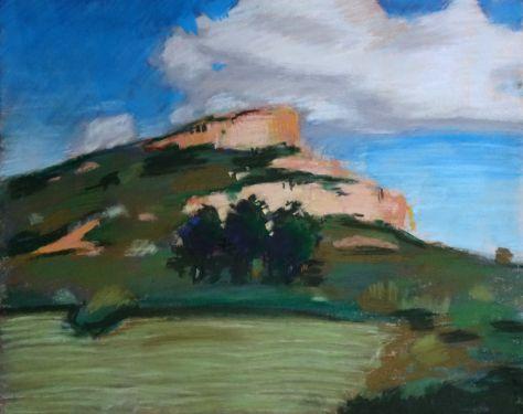 La roche du Solutré   Marion de Gentile's daily painting