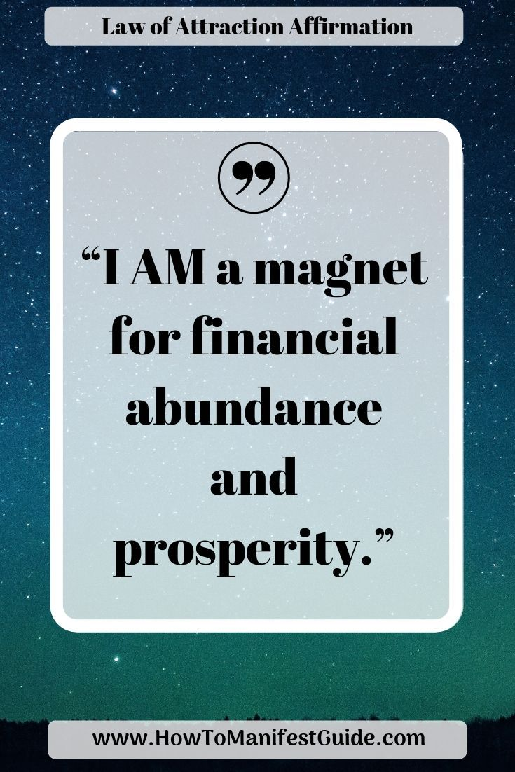 Law of Attraction Affirmation – I am a magnet for financial abundance and prosperity