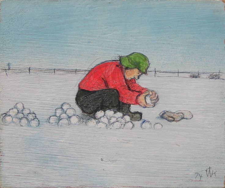 'Canadian Storm Trooper' by William Kurelek at Mayberry Fine Art