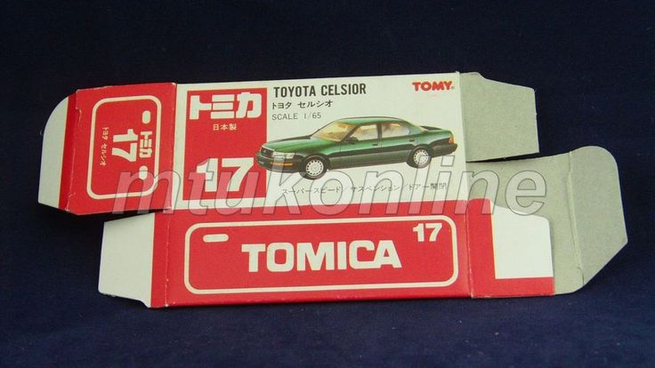 TOMICA 17 TOYOTA CELSIOR | JAPAN | 1990-1993 | DETAILED TYPE RED BOX ONLY