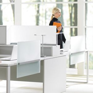 Teknion - Expansion Desking - panel free planning, screen use instead to create division
