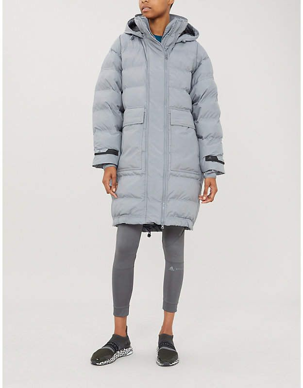 ADIDAS BY STELLA MCCARTNEY Padded hooded shell jacket in