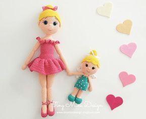 Amigurumi Balerin Bebek Yapılışı- Amigurumi Ballerina Doll Free Pattern - Tiny Mini Design