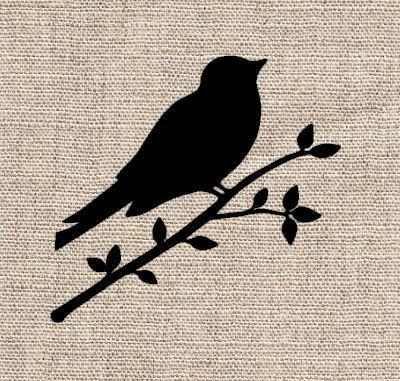 Bird on Branch Stencil by CutItOutStencil on Etsy, $9.00