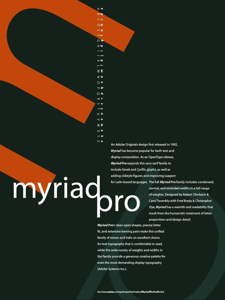 Typeface like thesis