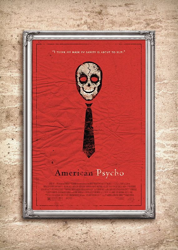american psycho redesigned movie poster: Movie Posters, Original Design, 24X36 Movie, Psycho Redesigned, Format Printing, Books Worth, Paper, Redesigned Movie, Photo