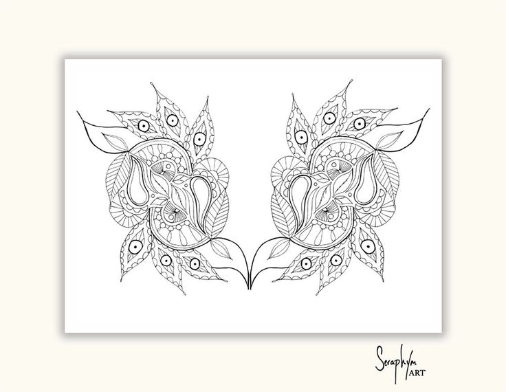 Printable Coloring Page - Adult Coloring Page, Colouring book page, PDF print at home, Zentangle -Instant Download only by SeraphymArt on Etsy https://www.etsy.com/au/listing/476018679/printable-coloring-page-adult-coloring