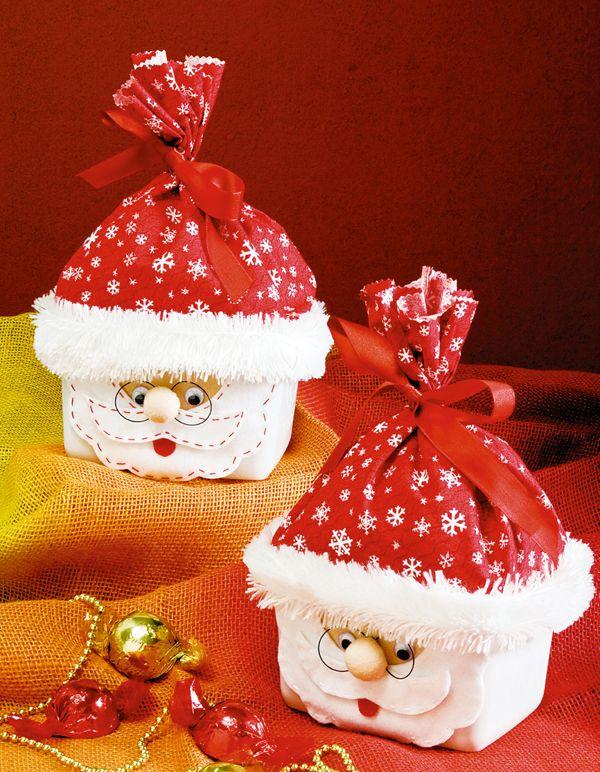 Reciclagem de pote de sorvete para o Natal