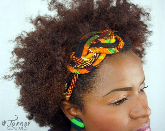 www.cewax.fr aime ce collier plastron style ethnique tendance tribale tissu africain wax ankara Kente Headband - Kente Cloth African Headband - Africain Fabric Headband - Kente Headband