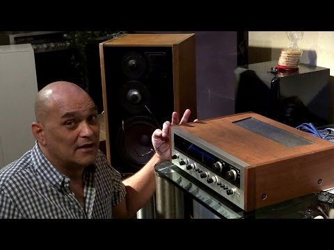 Vintage stereo Pioneer sx-1500TD review on mb quart 590 mcs - YouTube