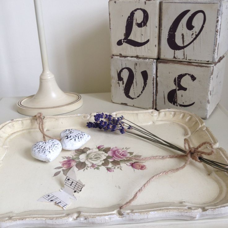 Vintage French Dressing Table Tray, Jewellery Tray,  Hand painted, Decorative, Shabby Chic by Papillonpieces on Etsy