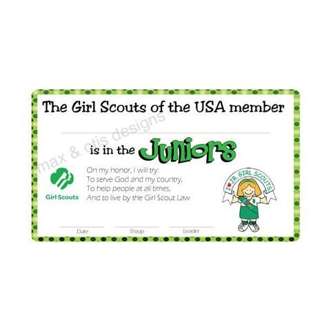 128 best Girl Scout Ideas images on Pinterest Girl scouts - printable membership cards