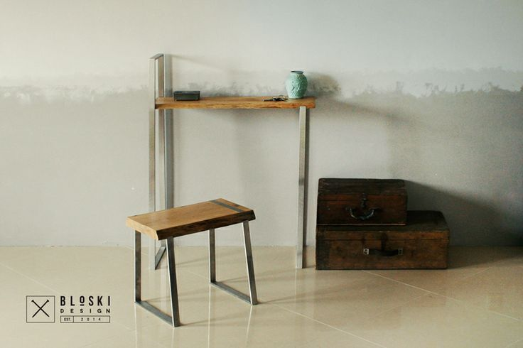 suite of furniture: two ascetic multifunctional standing shelfs
