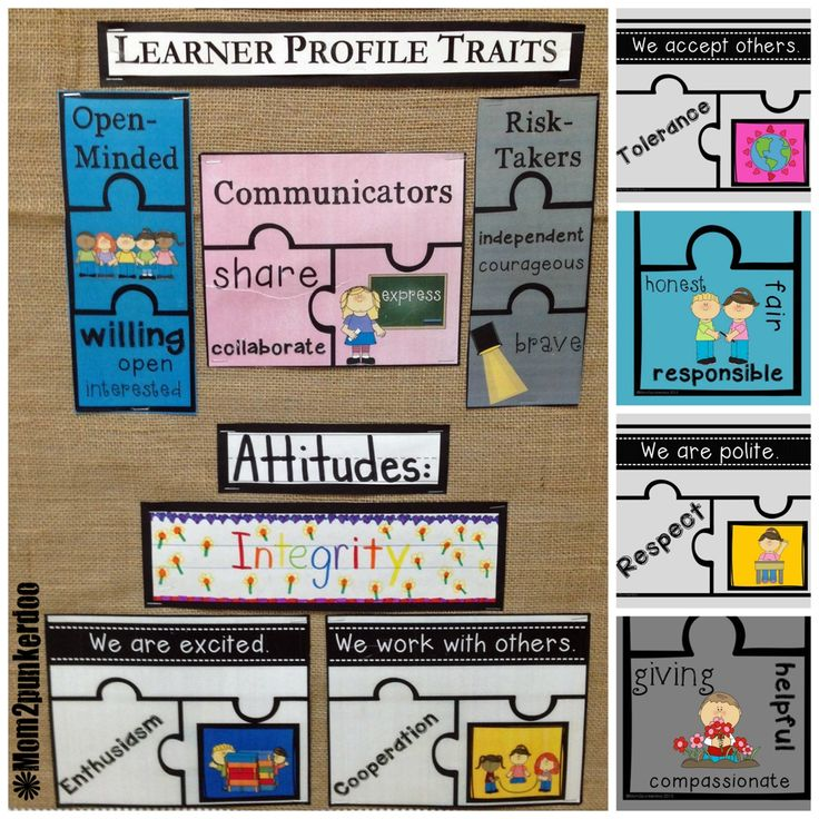 PYP and MYP International Baccalaureate   Learner Profiles, Attitudes, Transdisciplinary Themes, and Key Concepts.