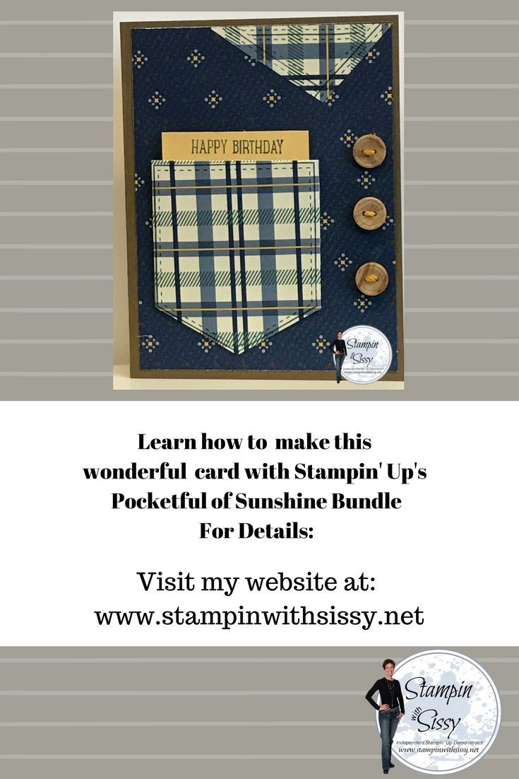 The Perfect Masculine Birthday Card With Stampin Ups True Gentlemen Designer Series Paper Pocket Framelets