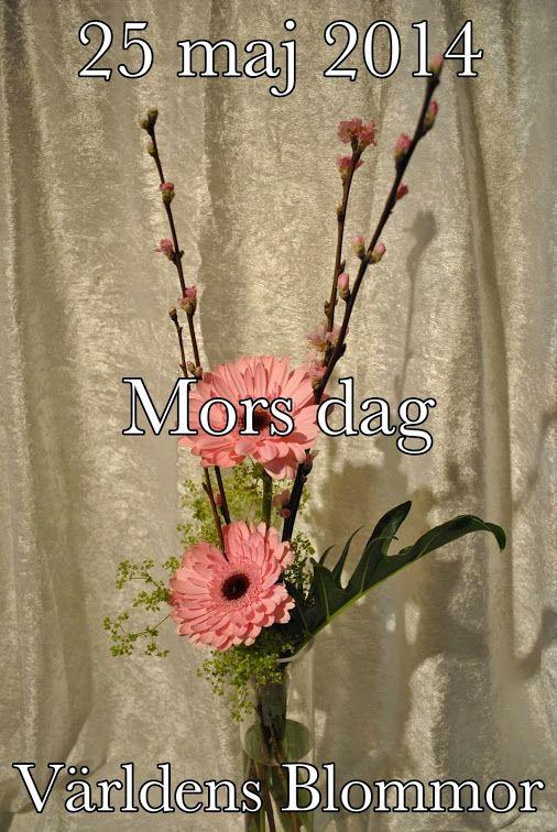 25 maj 2014, Mors Dag En Blomma För Alla Världens Blommor Mittemot Polishuset Landskrona City