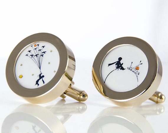 "Cuff links ""LE PETIT PRINCE"". Little prince unisex cufflinks — Customizable gift."