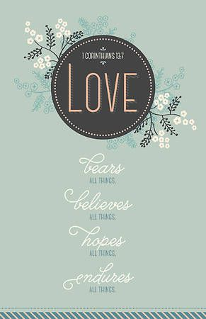 Love - Wedding Bulletin - Pkg 100