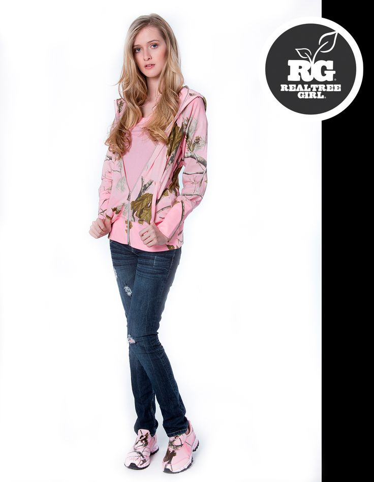 Realtree Girl Pink Camo Jacket and Sneakers.  #Realtreegirl #pinkcamo