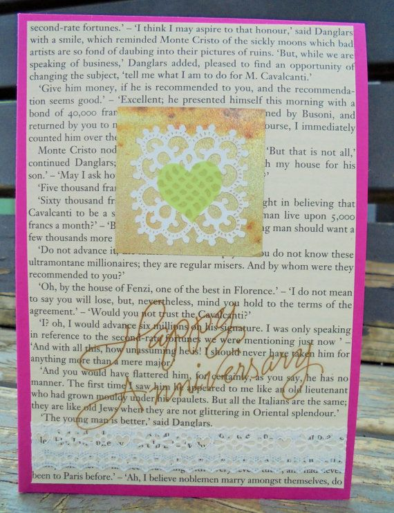 Lace Anniversary  handmade card FWB by RogueKissedCraft on Etsy