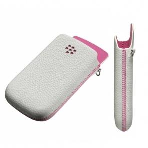 Toc BlackBerry ACC-32840-201 Pocket White W/Pink pt. BB 9800