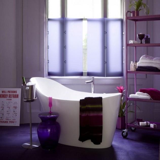 amazing purple bathroom interior decor