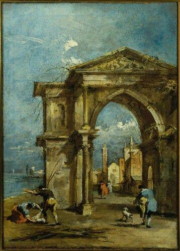 Capriccio con arco trionfale. 1770-1775. Accademia Carrara.