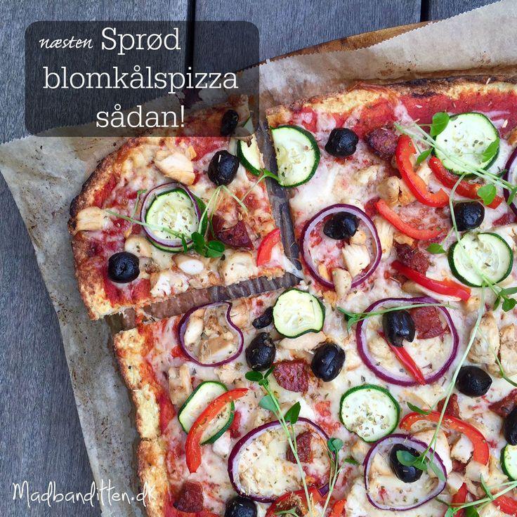 Er du træt af den løse blomkålspizza, så prøv denne opskrift. Du får en fast, sammenhængende og næsten sprød blomkålspizzabund. Opskrift her:
