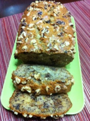 Starbucks Banana Bread  								This is Starbucks recipe for their Banana Walnut Bread. The recipe came straight from Starbucks, so enjoy!