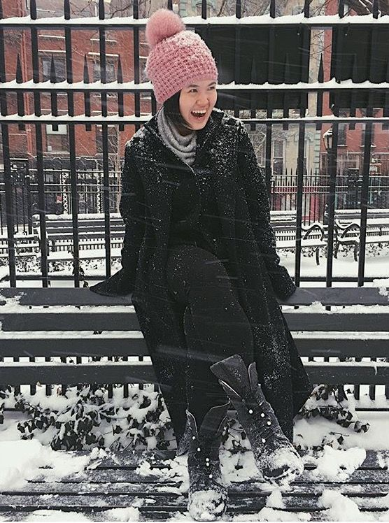 Oh snowy day! Perfect combat boots for New York's snowy days.  #josefinasportugal
