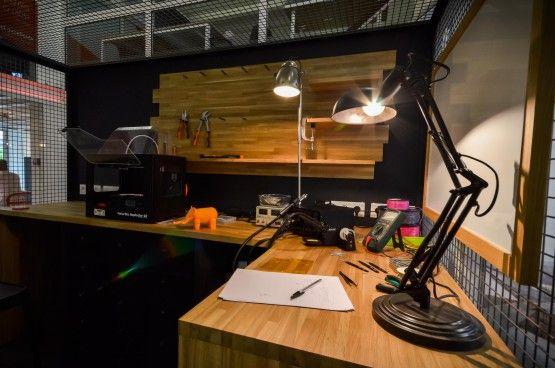 MOSWO | le privé | The Links | agencement | bureaux | design d'espace | show-room digital | fablab